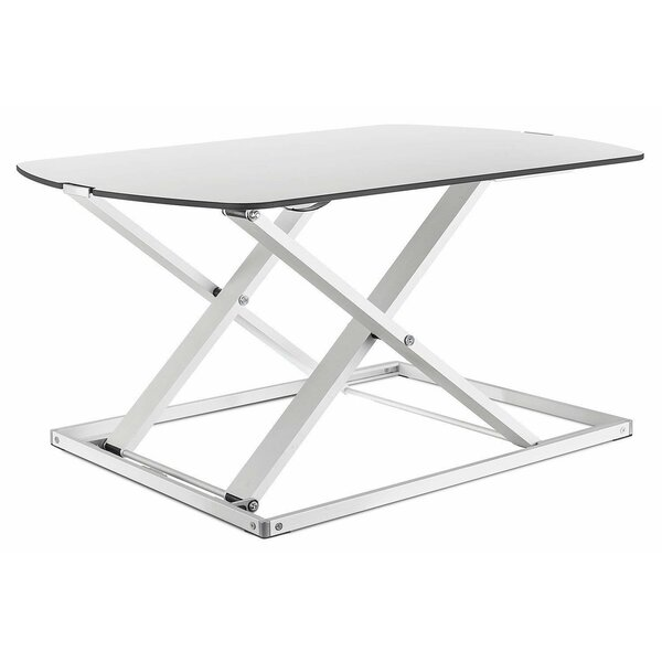 Cassiopeia Ultra Slim Gas Lift Sit and Stand Workstation Height Adjustable Standing Desk by Symple Stuff