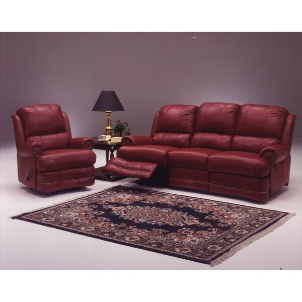 Morgan Reclining Leather Configurable Living Room Set by Omnia Leather