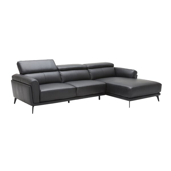 Lowest Price For Huguley Cow Hide Sectional by Orren Ellis by Orren Ellis