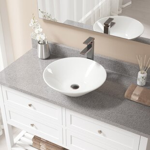 Shop For Vitreous China Circular Vessel Bathroom Sink with Faucet ByMR Direct