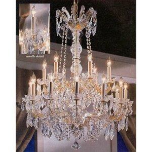 Alvarado 18-Light Glam Crystal Chandelier
