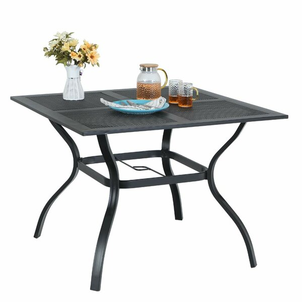 Hirsh Steel Dining Table by Latitude Run