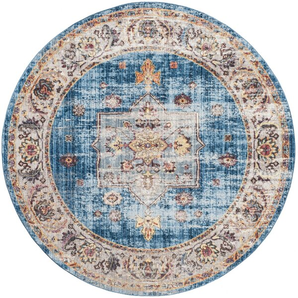 Ruwa Blue/Ivory Area Rug by World Menagerie
