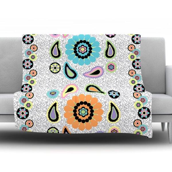 Moda Paisley Throw Blanket by KESS InHouse