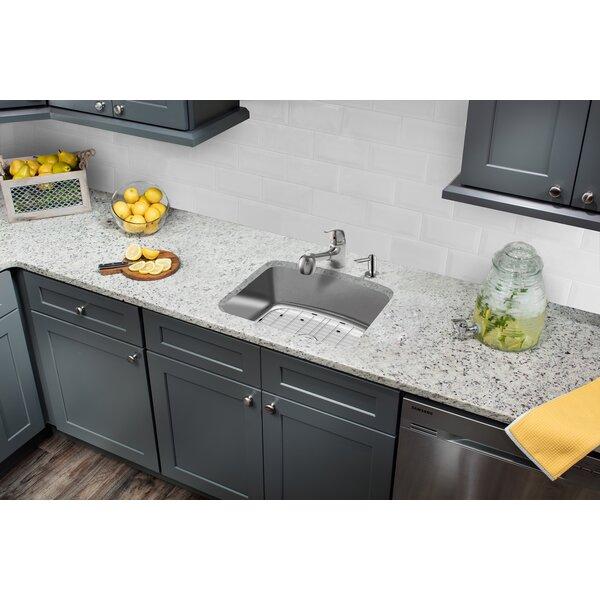 Stainless Steel 25 L x 22 W Undermount Kitchen Sink with Basket Strainer