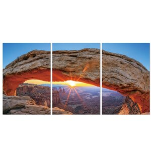 Sunset Arch 3 Piece Photographic Print Set by Furinno