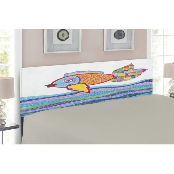 Fish Upholstered Panel Headboard by East Urban Home East Urban Home
