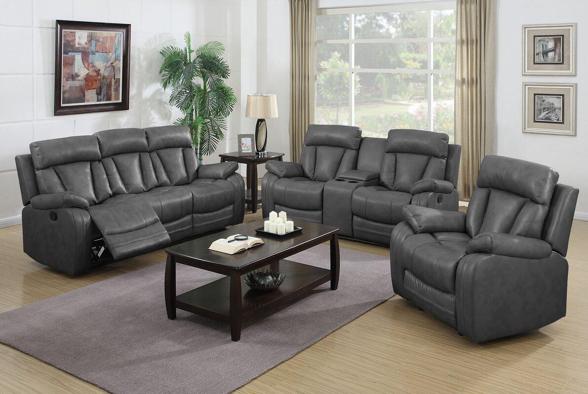 Nathanielhome Benjamin 3 Piece Living Room Set Reviews Wayfair
