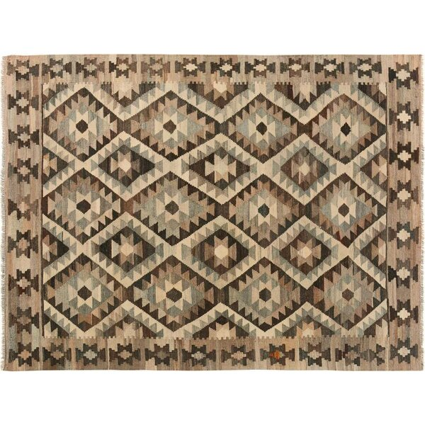 One-of-a-Kind Aalborg Kilim Hand-Woven Brown/Ivory Area Rug by Isabelline