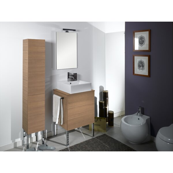Time 24 Single Wall Mounted Bathroom Vanity Set with Mirror by Iotti by Nameeks