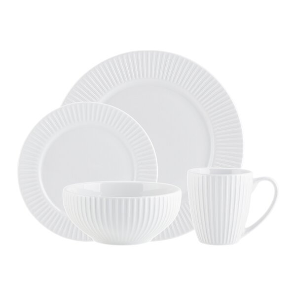 Inventure 16 Piece Dinnerware Set, Service for 4 by Godinger Silver Art Co