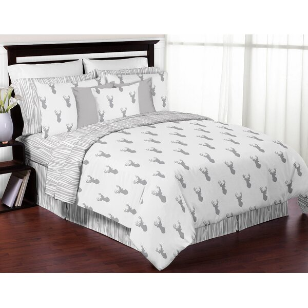 Stag 3 Piece Full/Queen Reversible Comforter Set by Sweet Jojo Designs