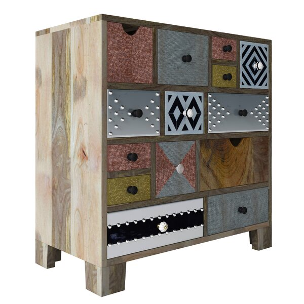 Genrich 14 Drawer Apothecary Accent Chest by Bloomsbury Market Bloomsbury Market