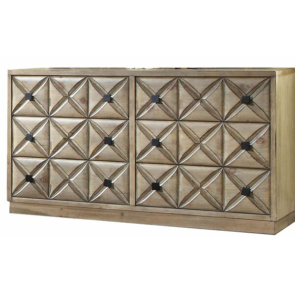 Anders Transitional Wooden 6 Drawer Double Dresser by Gracie Oaks