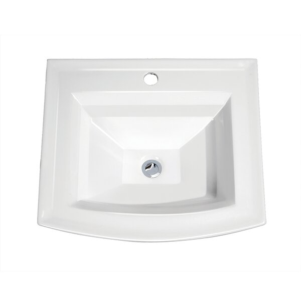 Top Mount Vitreous Porcelain Rectangular Drop-In B