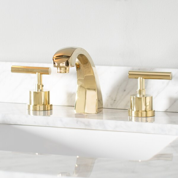 Manhattan Widespread Bathroom Faucet with Brass Pop-up by Kingston Brass