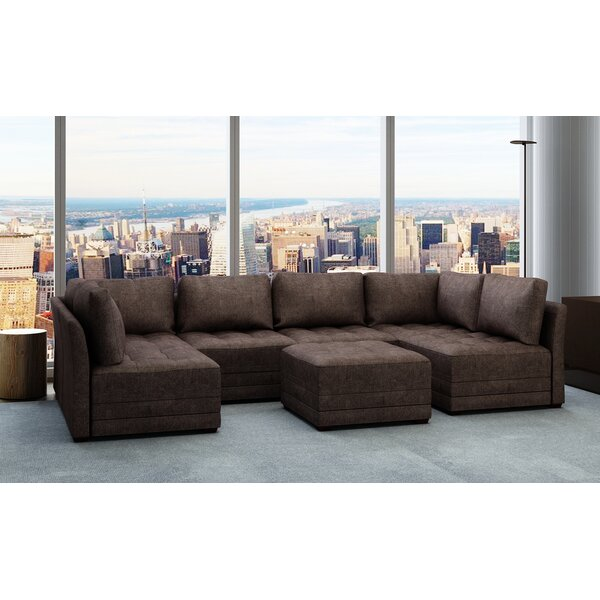 Frampton Sectional with Ottoman by Latitude Run