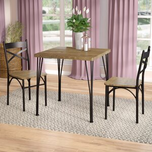 guertin industrial 3 piece dining set - Dining Table And Chair Set