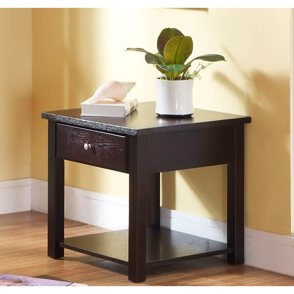 Nagle End Table with Storage by Andrew Home Studio