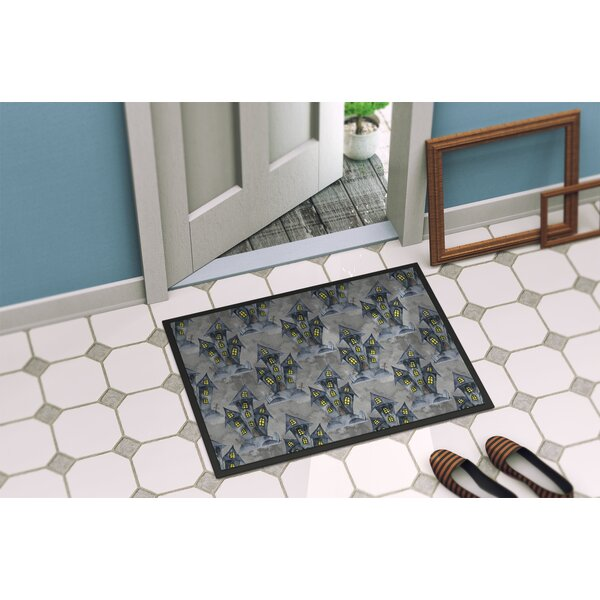 Precita Halloween Haunted House Doormat by The Holiday Aisle