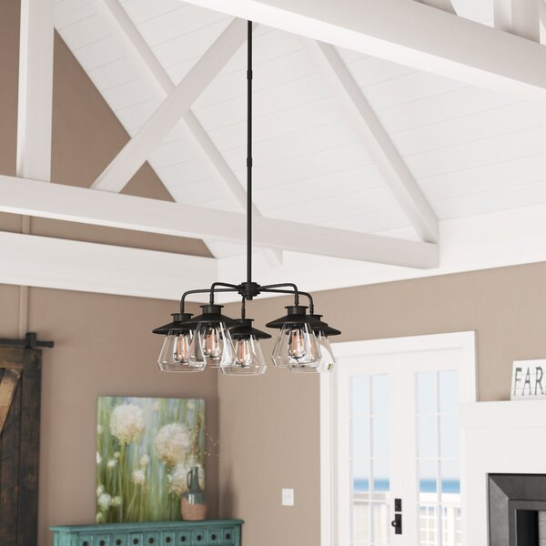 Michael 5 - Light Shaded Classic/Traditional Chandelier by Laurel Foundry Modern Farmhouse Laurel Foundry Modern Farmhouse