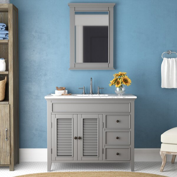 Grovetown 42 Single Bathroom Vanity Set with Mirror by Laurel Foundry Modern Farmhouse