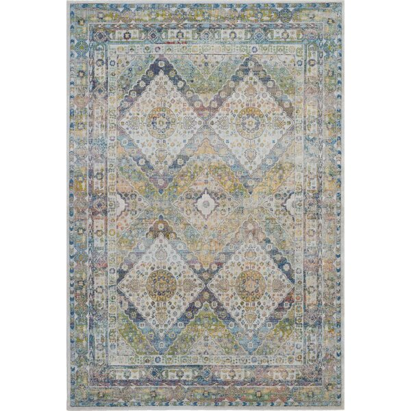 Burnie Oriental Blue/Green Area Rug by Bungalow Rose