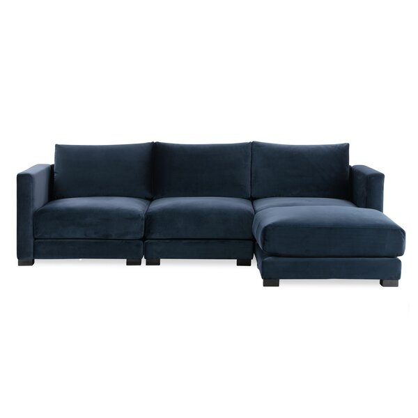 Best Price Nil Reversible Sectional With Ottoman