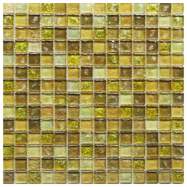 Ferrara 0.8 x 0.8 Glass Mosaic Tile in Yellow by NovoTileStudio