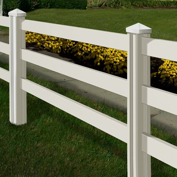 4 ft. H x 7 ft. W Traditional Ranch Fence Panel by Wam Bam Fence CO.