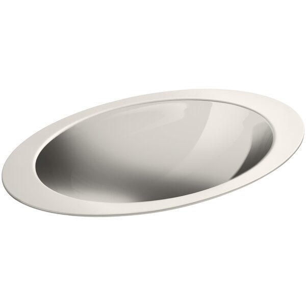 Rhythm Metal Oval Drop-In Bathroom Sink by Kohler