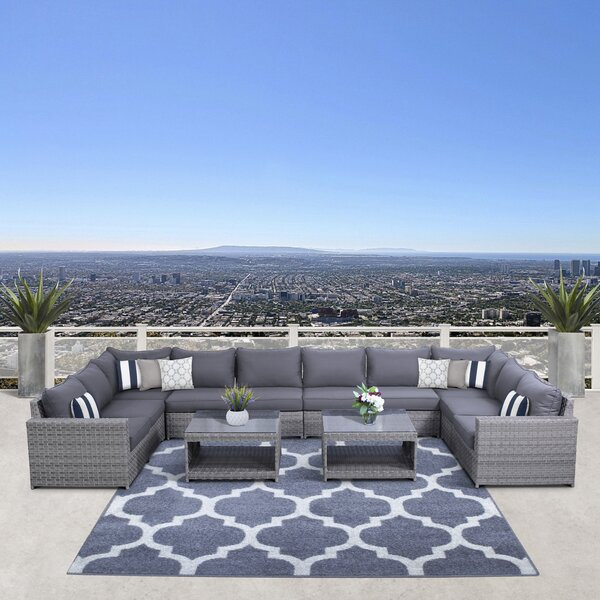 Laron 12 Piece Sectional Seating Group with Cushions by Sol 72 Outdoor