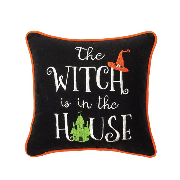 Conway House Witch Cotton Throw Pillow by The Holiday Aisle