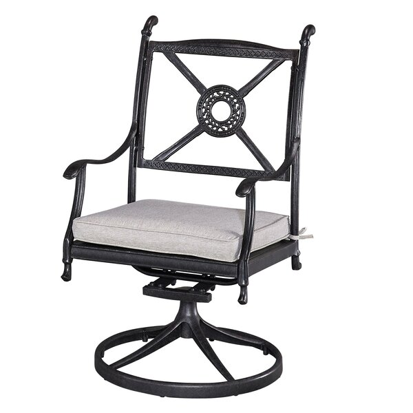 Lansdale Swivel Patio Chair with Cushion by Darby Home Co