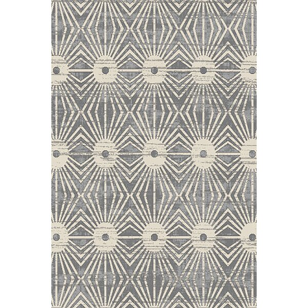 Allegan Abstract Gray/Cream Area Rug by Ivy Bronx