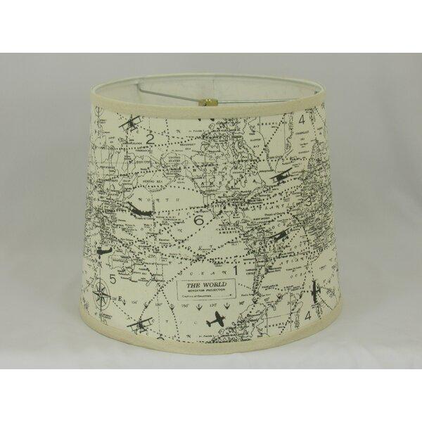 12 H x 16 W Cotton Drum Lamp Shade ( Spider ) in Ivory