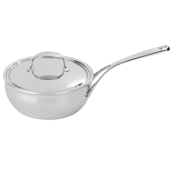 Atlantis 7-Ply Stainless Steel Saucier with Lid by Demeyere