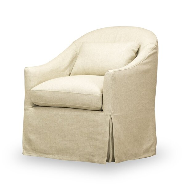 Box Cushion Armchair with Slipcover by Rosecliff Heights
