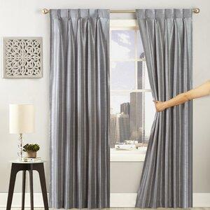 Glide Solid Semi-Sheer Grommet Single Curtain Panel