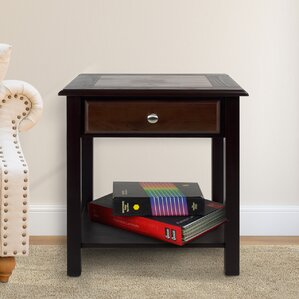Ambudkar End Table With St..