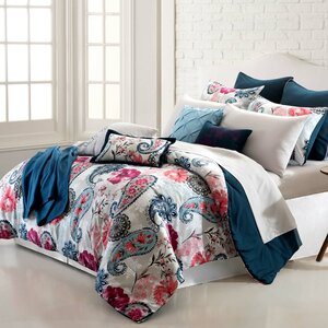Gaby Paisley Garden 16 Piece Reversible Bed-In-a-Bag Set