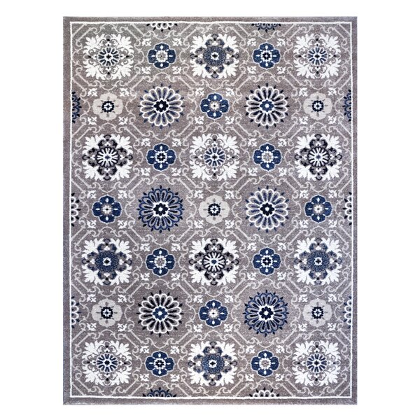 Burnell Blue/Gray Indoor/Outdoor Area Rug by Bungalow Rose