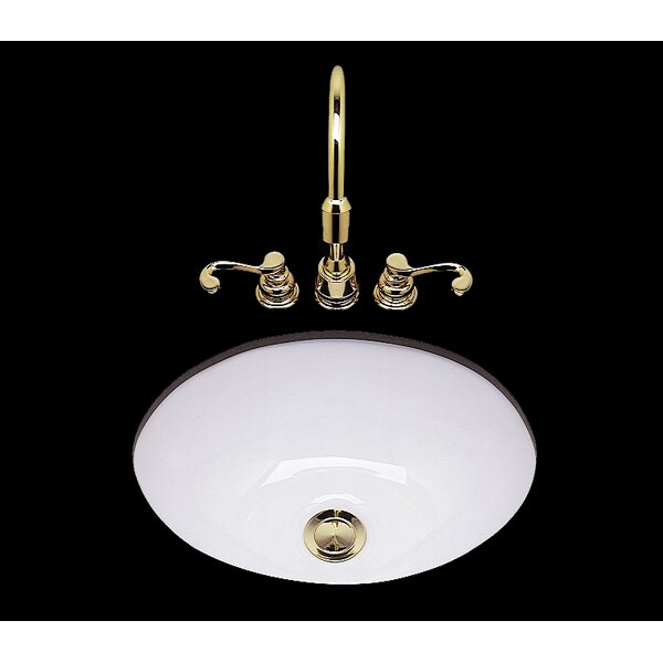 Teri Ceramic Circular Drop-In Bathroom Sink by Bat