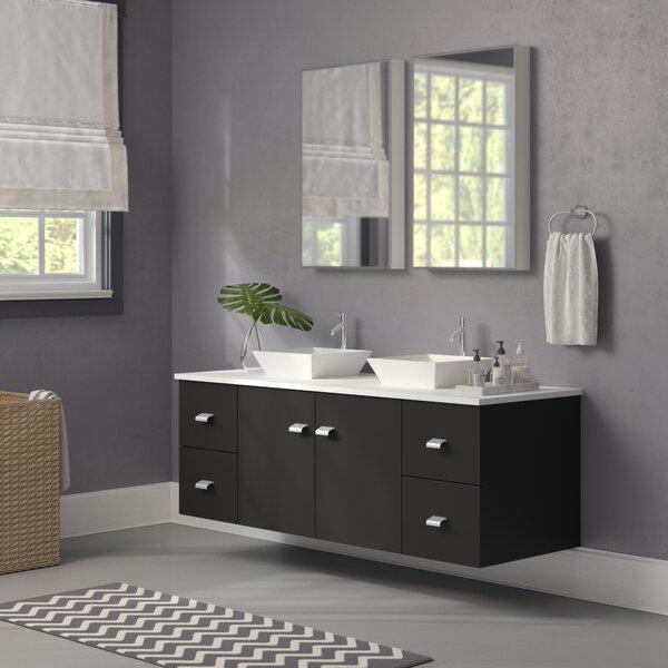 Decastro 61 Double Bathroom Vanity Set with Mirror by Mercury Row