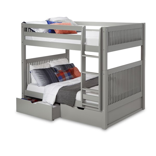 Rabon Full Over Full Bunk Bed with Drawers by Harriet Bee