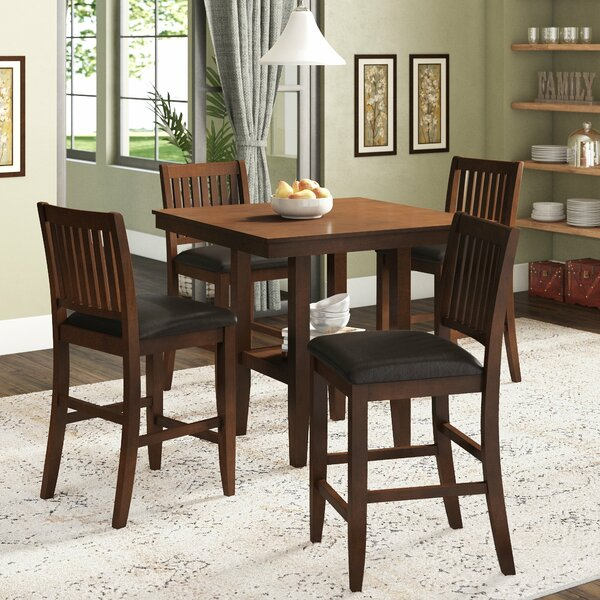 Chippewa 5 Piece Counter Height Dining Set by Loon Peak