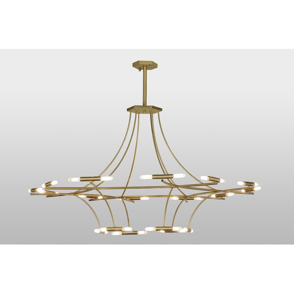 Divya 36 - Light Unique Chandelier by Everly Quinn Everly Quinn
