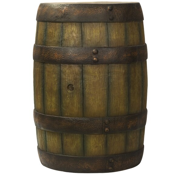 Rustic Whiskey Barrell Sculpture by Loon Peak