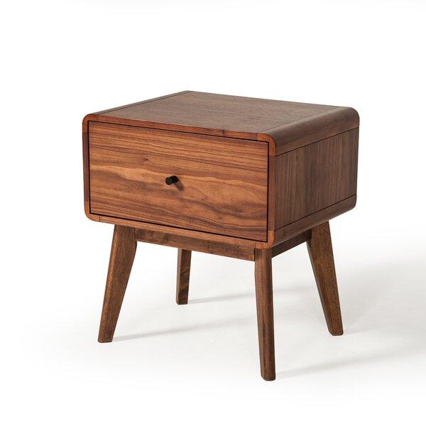 Rodney Mid-Century 1 Drawer Nightstand by Modern Rustic Interiors