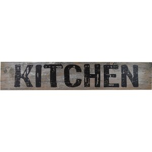 'KITCHEN' Textual Art on Wood by Gracie Oaks